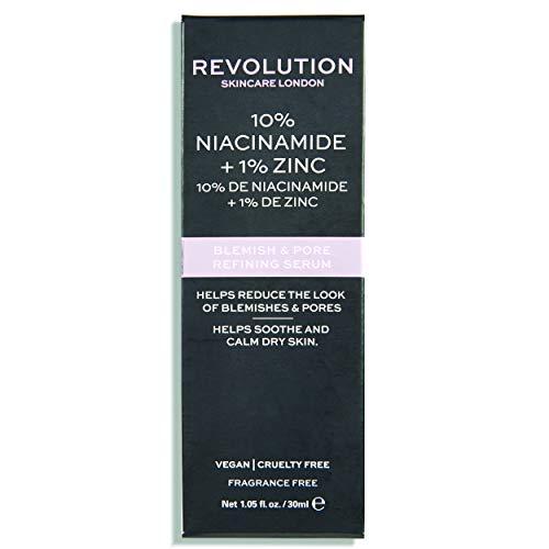 Revolution Skincare 10% Niacinamid + Zink Blemish & Porenverfeinerndes Serum 30ml transluzent