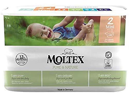 38 St. MOLTEX pure & nature Öko-Windeln Babywindeln MINI Gr 2 (3-6 kg)