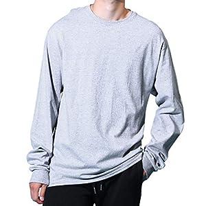 [チャンピオン] ロングスリーブTシャツ メンズ ワンポイントロゴ ベーシック 長袖 Tシャツ L グレー