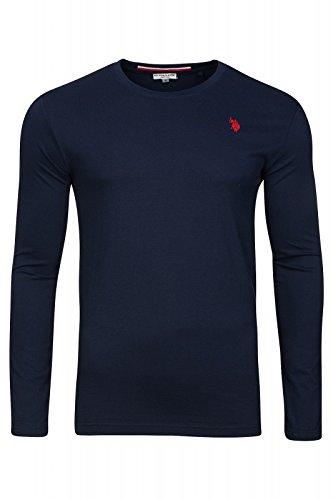 U.S. POLO ASSN. Shirt Sweatshirt Herren Langarmshirt Longsleeve Blau 168 42963 51884 177, Größenauswahl:XL