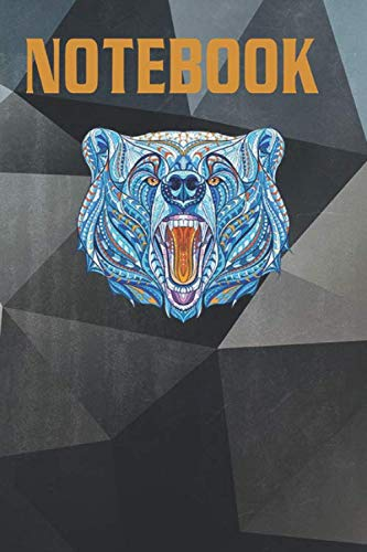 Composition, Journal Notebook: Maverick Infanta Inspirational Grizzly Bear CUAI0146 Size 6'' x 9'', Lined 100 Pages, for notes, drawings, formulas, A Perfect Birthday, A Great alternative