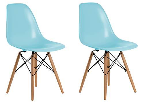 Aryana Home Réplique Eames – Set de chaises, 51 x 46,5 x 81,5 cm 51x46.5x81.5 cm Bleu
