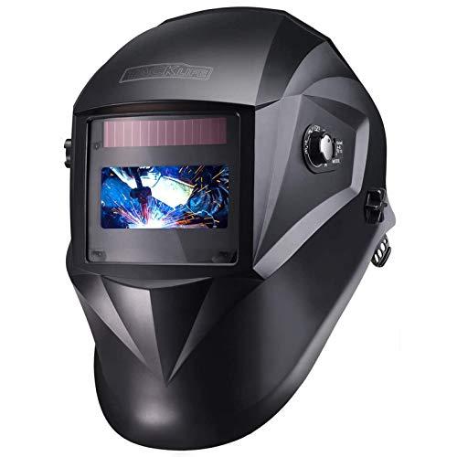 Careta Soldar Automatica Tacklife PAH04D Casco de Soldadura 1111 de Oscurecimiento Máscara de Soldadores Caretas para Soldar con 6 Lentes de Recambio de ARC TIG Mig Molienda
