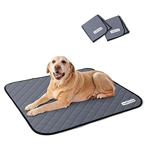 Nobleza 2X Alfombras de adiestramiento caninas, Lavable Entrenamiento Almohadilla para Mascota, Perros Reutilizable Absorbente Antideslizante Pet Pee Pad, Paquete de 2, L (81 x 72cm)