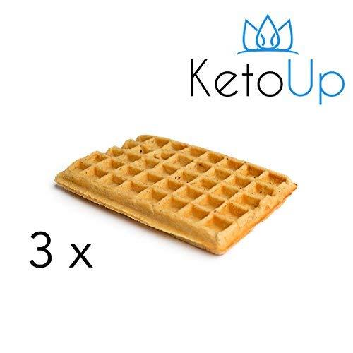 KetoUp: 3 LOW CARB WAFFELN - Ketogene und Low Carb Ernährung | Gesunde Ernährung | enthält maximal 3 % Kohlenhydrate | 120 Gramm | Versandkostenfreie Lieferung in Deutschland ab Bestellwert von 25€