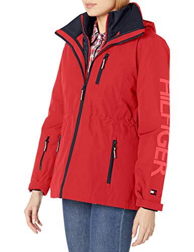 Tommy Hilfiger Women's 3 in 1 Systems Jacket, Fire, S