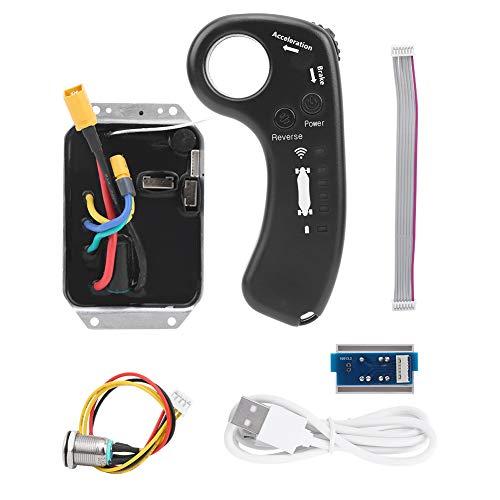 Germerse Kit de Controlador de accionamiento único Control de Interruptor Placa de módulo de Baja Velocidad de plástico Alto par Controlador de accionamiento único para Bicicletas eléctricas de