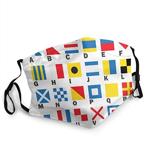AYGoUP Gesichtsschutz Mundschutz Maritime Signalflagge Wiederverwendbarer Nasenschutz Waschbar staubdicht gegen Verschmutzung