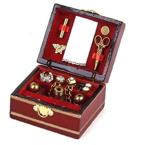 KHHGTYFYTFTY Rectángulo Cajas de Recuerdo Vendimia de la joyería Caja Adornada Final Antiguo Grabado Organizador Caja