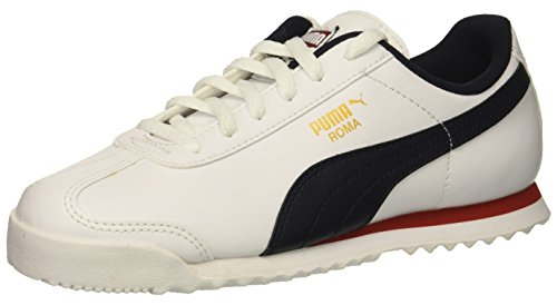 PUMA Unisex Roma Basic PS Sneaker, White-Night Sky, 3.5 M US Big Kid