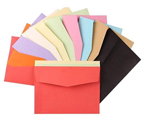 MINGZE Mini sobres de 100 piezas, sobres de 11.7 * 8.2 cm, sobres pequeños de color para bodas de tarjetas de regalo, artículos de fiesta de cumpleaños.