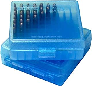 MTM Plastic Ammo Box, Blue 100 Round 22 Long Rifle / .25 ACP