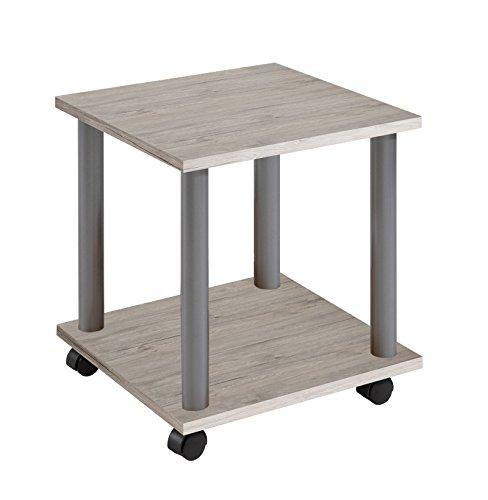 FMD Möbel–Mesa auxiliar con ruedas, madera, madera, Sand Oak, 60x40x44.5 cm