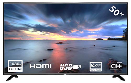 HKC 50F2 TV LED da 127 cm (50 pollici) (Full HD, Triple Tuner, CI +, HDMI, lettore multimediale tramite USB 2.0)