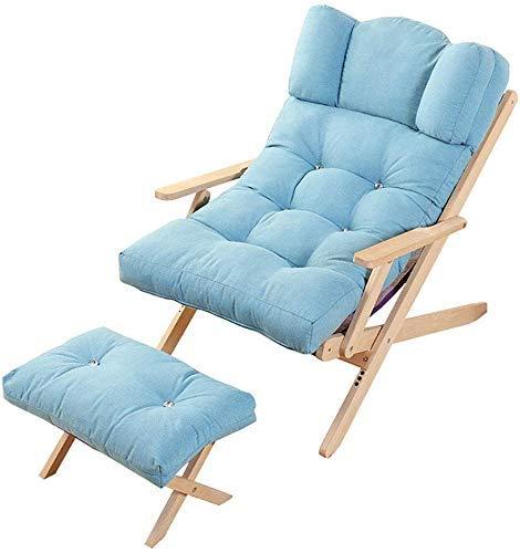 Sillas de Playa tumbonas Silla Plegable sillón sofá de Playa balcón Dormitorio Ocio 4 Colores (Color: B)
