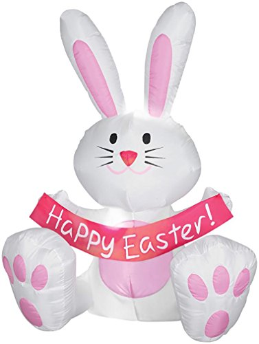 Happy Easter Bunny Airblown Inflatable By Gemmy 3.5'