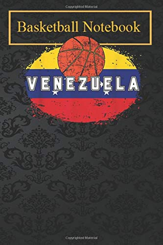 Basketball Notebook: Venezuela Flag Basketball Jersey for Fans and Lovers 105 Lined Pages Basketball Sports Journals For Kids