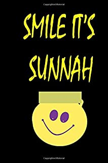 smile it's sunnah: Smile islamic Notebook Gift for Muslim Students and Teachers ,boys ,girls and kids– Ideal Islamic  blanc lines with 120 Pages 6 x 9