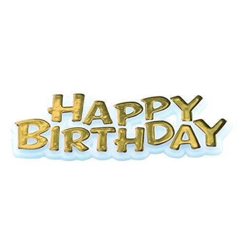Creatieve gelukkige verjaardag tekst ontwerp partij taart topper