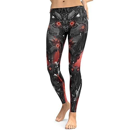 JiaCH Neue Entwurfs-Frauenleggings 3D druckte Halloween-Geistskelettteufel Reizvolle mysteriöse Leggins Yoga-Strumpfhosen Legging für Frau...
