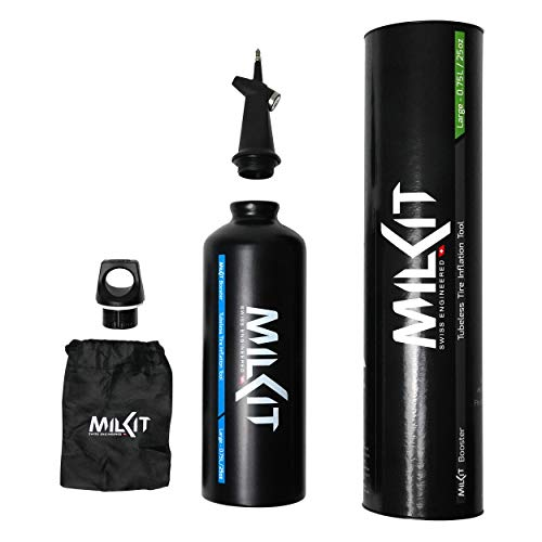 milKit Tubeless Booster - The Award-Winning Tubeless Bicycle Tire Inflator - Inflate Your Tubeless Tires Quickly and Easily Anywhere with a Boost!