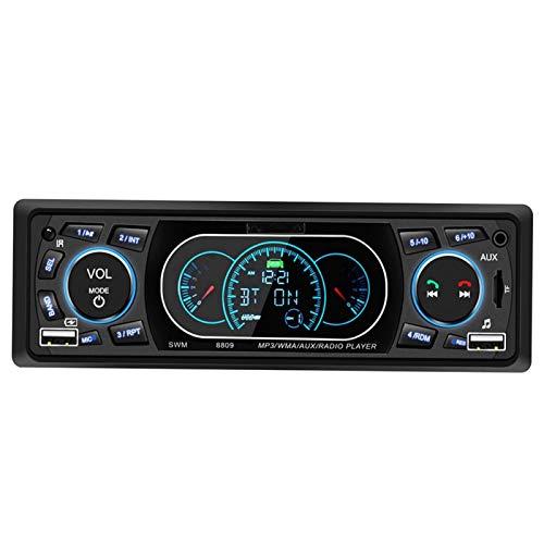 Jingyig Estéreo para automóvil con Bluetooth, Receptor estéreo para automóvil de 4 x 60 W, Carga rápida Conveniente para automóvil con electrónica Am/FM