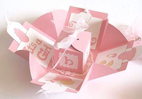 Geldgeschenk Geschenk zur Geburt Mädchen Baby Geschenkverpackung Explosionsbox