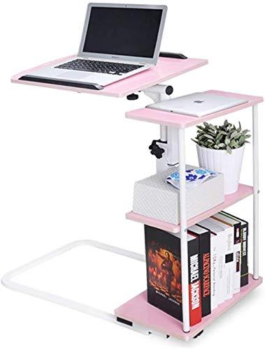 XHLLX Mobil Schreibtisch Folding, Forliving Zimmer Schlafzimmer Schlafsofa Laptop-Schreibtisch Mit Storage Magazine Rack Snack Tisch Computerstand,A
