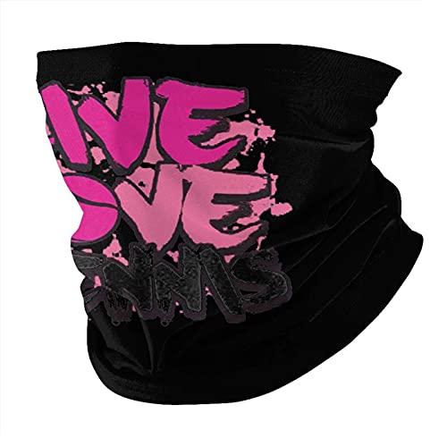asdew987 Live Love - Bandana lavable para hombres y mujeres, máscara facial y cuello elástico para exteriores