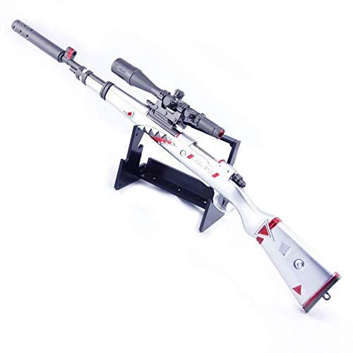 QISUO 98k Sniper Rifle Llavero Juego Batalla Modelo Regalo para Niños Juguete Mini Figura Artes Acción Colección Metal Decoración Arma Accesorios