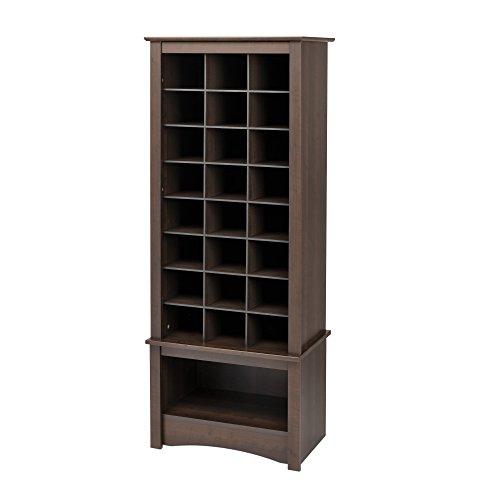 Hot Sale Espresso Tall Shoe Cubbie Cabinet