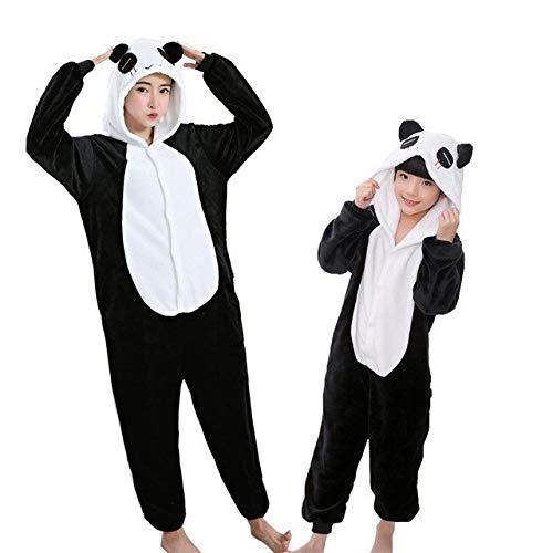 SOHOH Pijama Unicornio Adulto Coincidencia de Franela Familia de Animal Pijamas Trajes de Invierno con Capucha de Pegaso del Unicornio Panda Onesie Pijama de la Ropa de Noche de la Madre de los niños