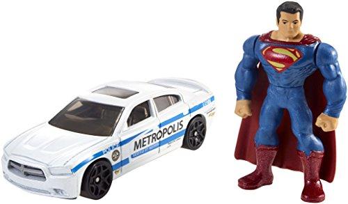 マテル バットマンvsスーパーマン/ジャスティスの誕生 ホットウィール ミニフィギュア&ダイキャストカーパック スーパーマン&メトロポリスPD / MATTEL BATMAN v SUPERMAN: DAWN OF JUSTICE HOT WHEELS S