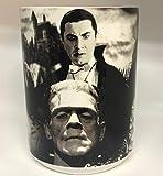 B/W Classic Movie Monsters 15oz Coffee Mug