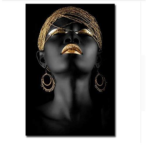LIPENGYU Druck auf leinwand Schwarze Frau Afrika Kunst leinwand malerei Moderne Dekoration wandbilder für Wohnzimmer 40x60cmx1pcs kein Rahmen
