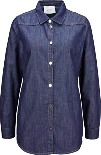 Just Female Damen Jeans-Hemd in Dunkelblau Raw XS