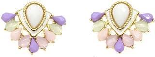 Lotus Blossom Flower Stud Earrings Elegant Crystal Stud Earrings Gold Lovely Simple Floral Charm Stud Earring Fashion Jewe...