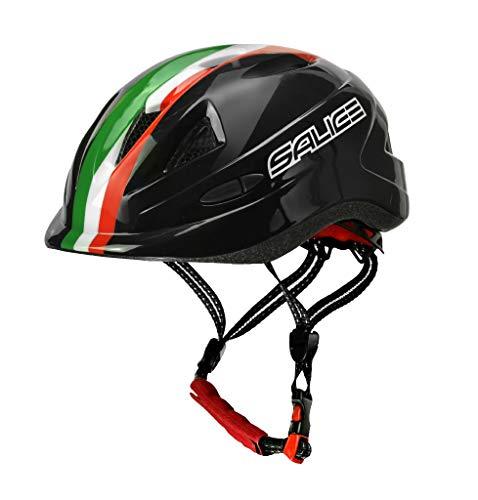 salice Casco para Bicicleta Junior TG.46–54Negro Italia Unisex bebé