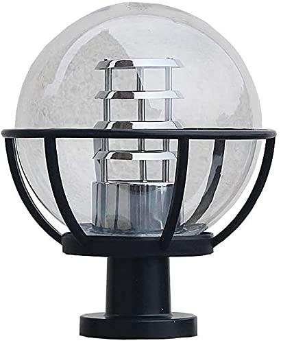 Lámpara al aire libre Post Light Lightture Polo Exterior Pole Linterna Pilar Pilar Bola Luz Al Aire Libre Pilar Pilar Lámpara Piedra Columna Puerta Luz Impermeable Barandilla Transparente Lámpara de p