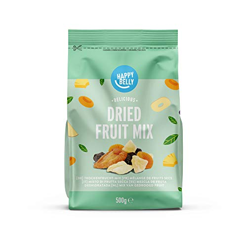 Marque Amazon - Happy Belly Mélange de fruits secs, 500 g