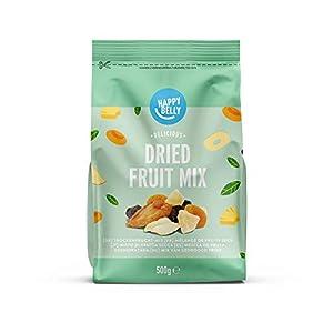 Marca Amazon - Happy Belly Mezcla de frutas deshidratada, 500 g
