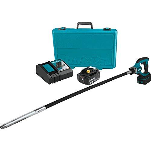 Makita XRV01T 5.0 Ah 18V LXT Lithium-Ion Cordless Concrete Vibrator Kit, 4'