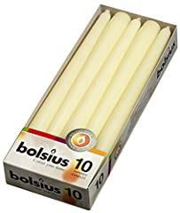 COMPLIMENT ANY SPECIAL OCCASION WITH BOLSIUS IVORY CANDLE SET: Our 10 inch long unscented candles improve your home décor without spending a fortune. With these tall candles, you can decorate and add warmth to your house in seconds. Our tapered candl...
