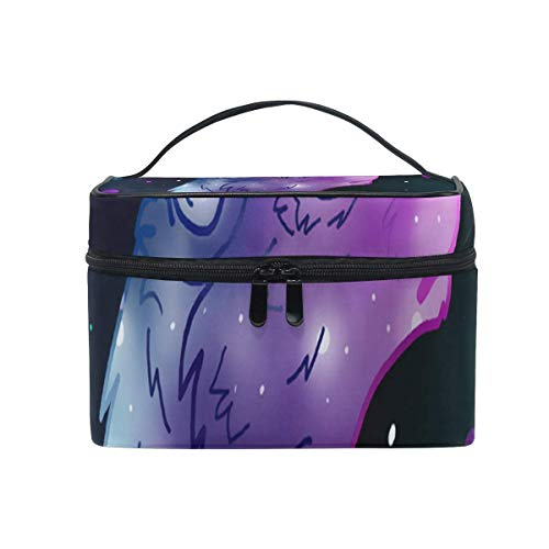 Trousse de maquillage Galaxy Wolf Cute Cosmetic Bag Portable Large Toiletry Bag for Women/Girls Travel