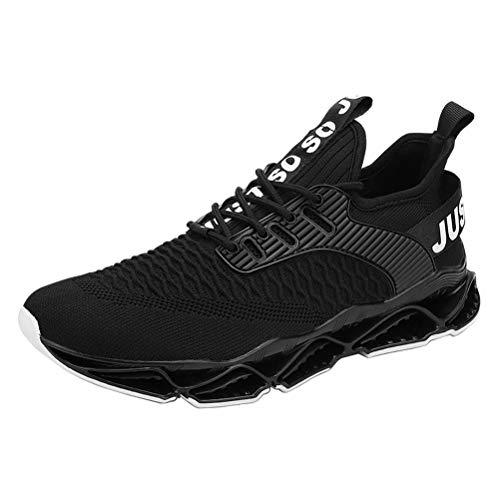 Zapatos para Correr Hombre Respirable Cómoda Gimnasio Zapatillas Casual Correr Aire Libre Sneakers Antideslizante Negro 40