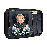 ベビーミラー 車用 赤ちゃんミラー 幼児や赤ちゃんに直面して参照してください背面にリアビューベビーカーシートミラー (Color : Black, Size : 24.5x17x8.5CM)