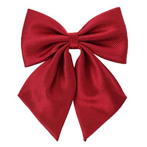 Womens Japanese Lolita Uniform Embroidery Handmade Bowties (one size, red) CA114K