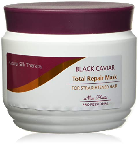 Mon Platin Professional 500ml Natural Silk Therapy Black Caviar Total Repair Mask for Straighten Hair