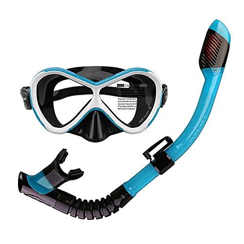 FGHJKOO Gafas de buceoConjunto de Tubo de respiración de Buceo para niños,Máscara de Buceo antivaho y antifugas, Gafas de Snorkel, Gafas de Buceo, Gafas de natación, Unisex