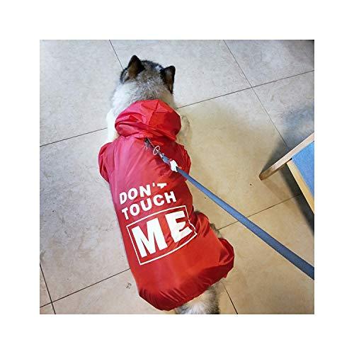 Dog Raincoat Hunde Regen-Mantel-Haustier-Kleidung-Welpen Dobermann Labrador Wasserdichtes Golden Retriever Jacke, Rot, 9XL